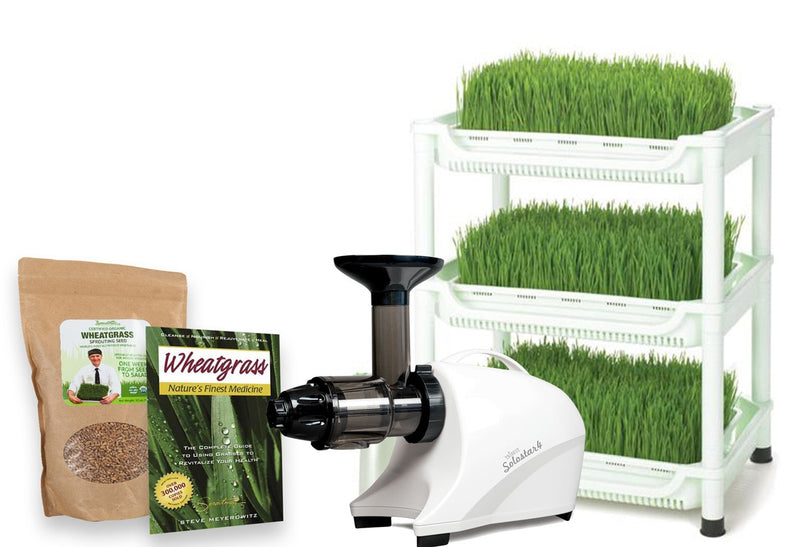 Sproutman's Wheatgrass Kit: Everything You Need to Grow & Juice Organic Wheatgrass!