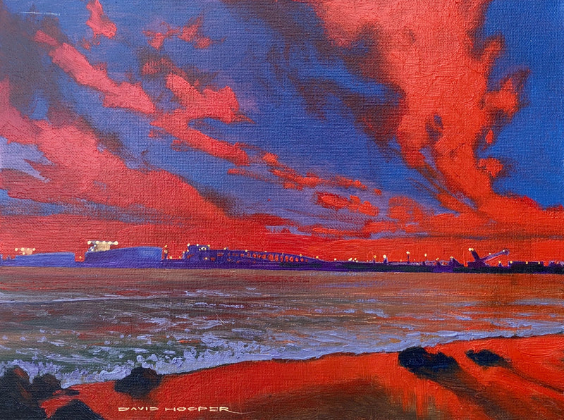 Water 9. Red Sky. SOLD
