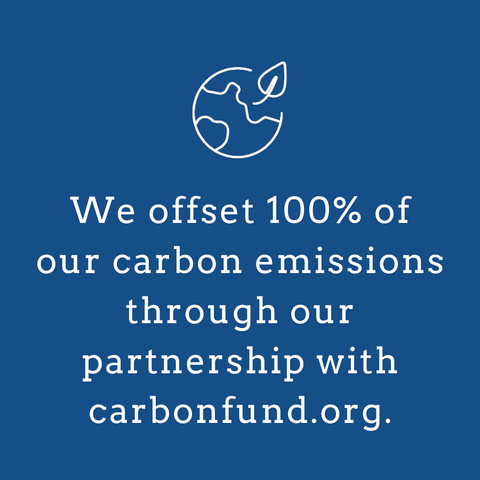 we offset 100% of our carbon emissions through carbonfund.org