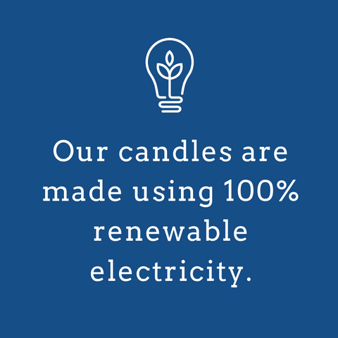 candles are made with 100% renewable energy