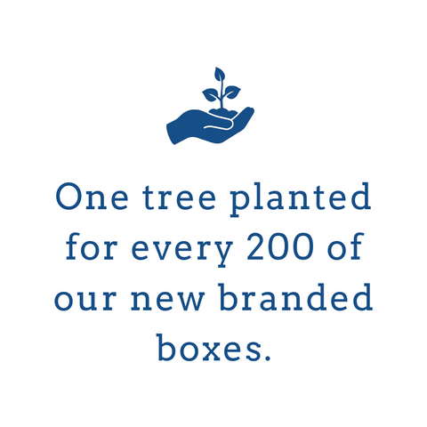 one tree planted for every 200 boxes