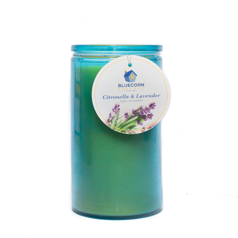 Citronella-Lavender - Recycled Heavy Glass Candle - 16oz