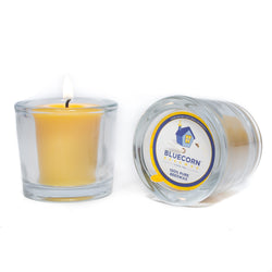 Pure Beeswax - Recycled Heavy Glass Votive Candle