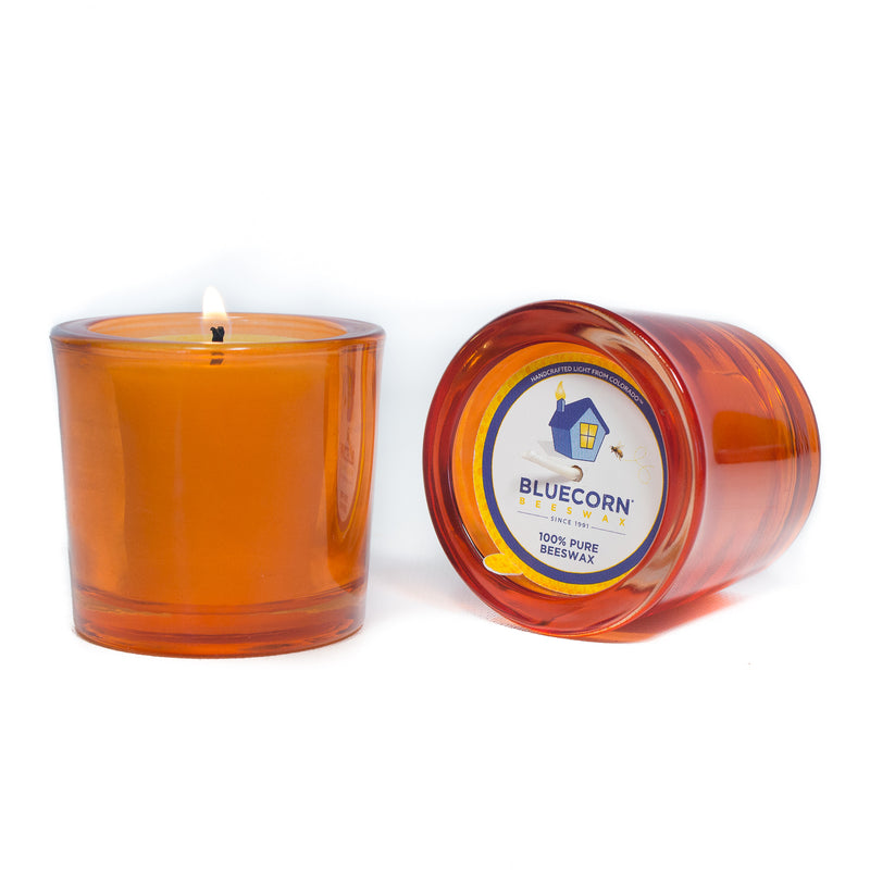 Pure Beeswax - Recycled Heavy Glass Votive Candle - Clearance