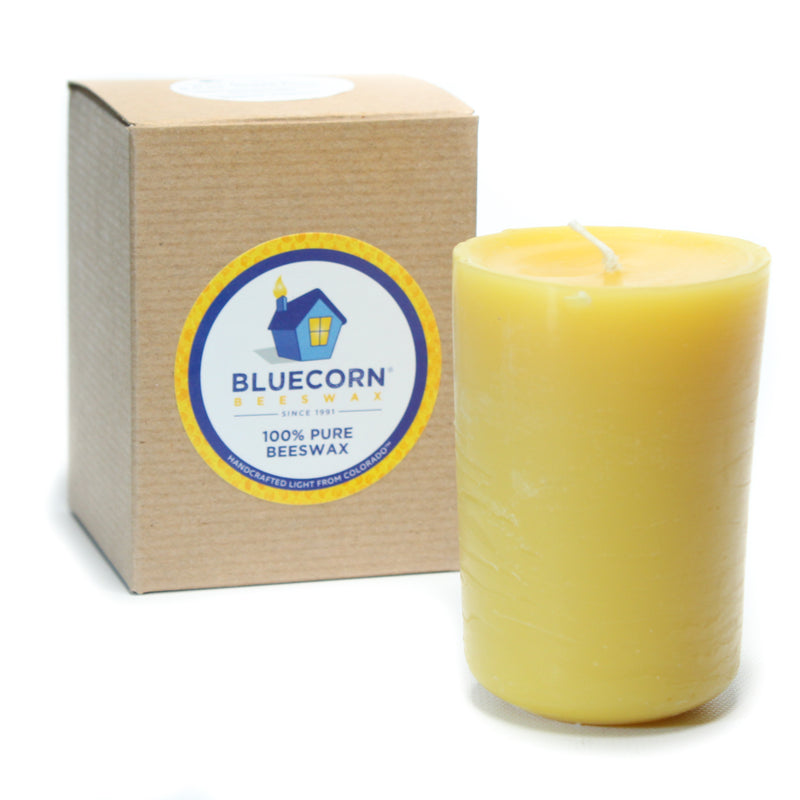 Aromatherapy Beeswax - Heavy Glass Candle - 8.5oz