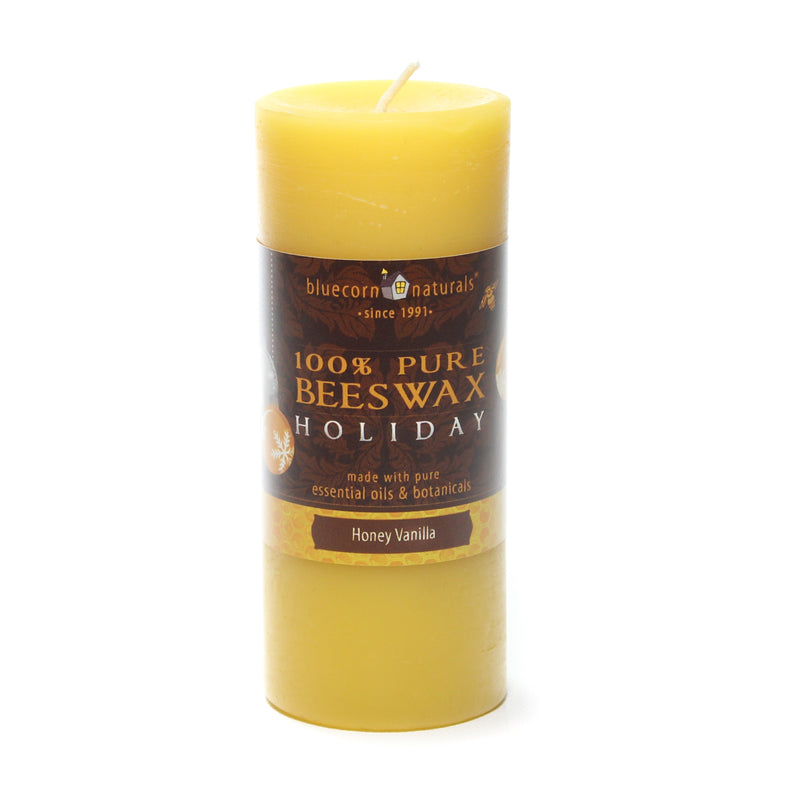 Holiday Beeswax - Pillar Candle
