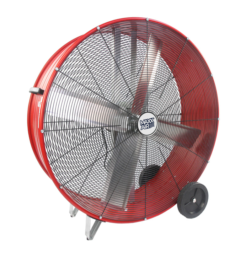 "Maxx Air Professional 42"" High Velocity Industrial Belt Drive Barrel Fan"