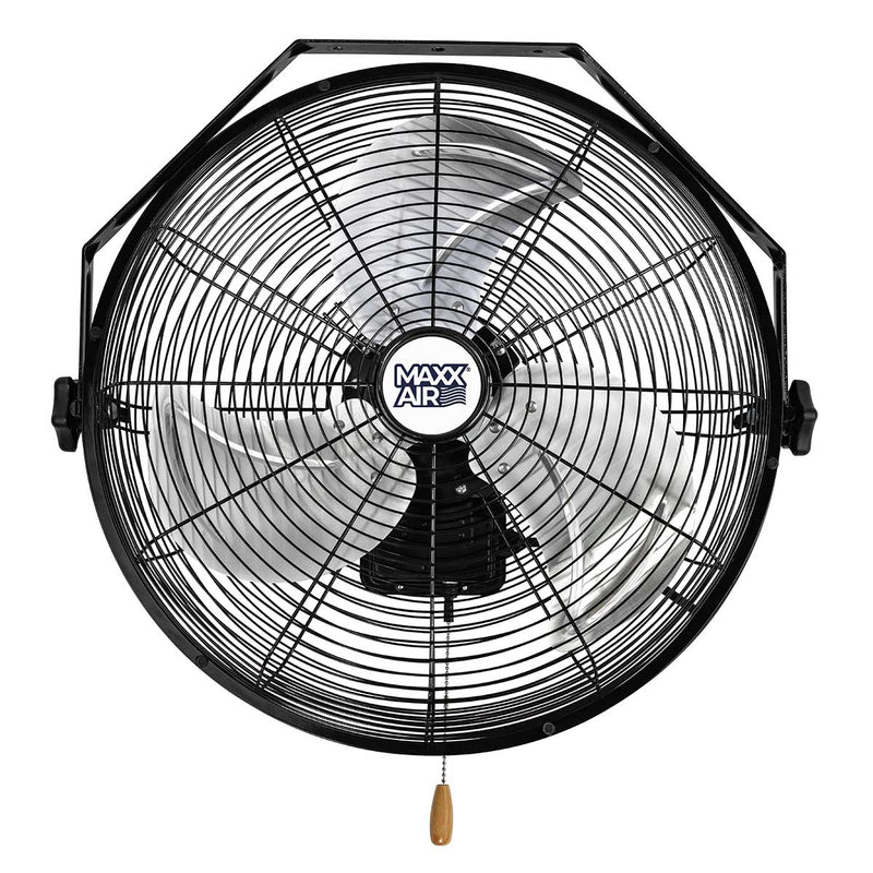 Maxx Air 18 In. 3-Speed Tilting Wall Mount Fan
