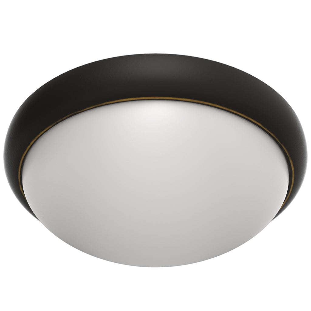 Luminosa 13 Inch Modern Round Flush Mount LED Light with Oil Rubbed Bronze Finish