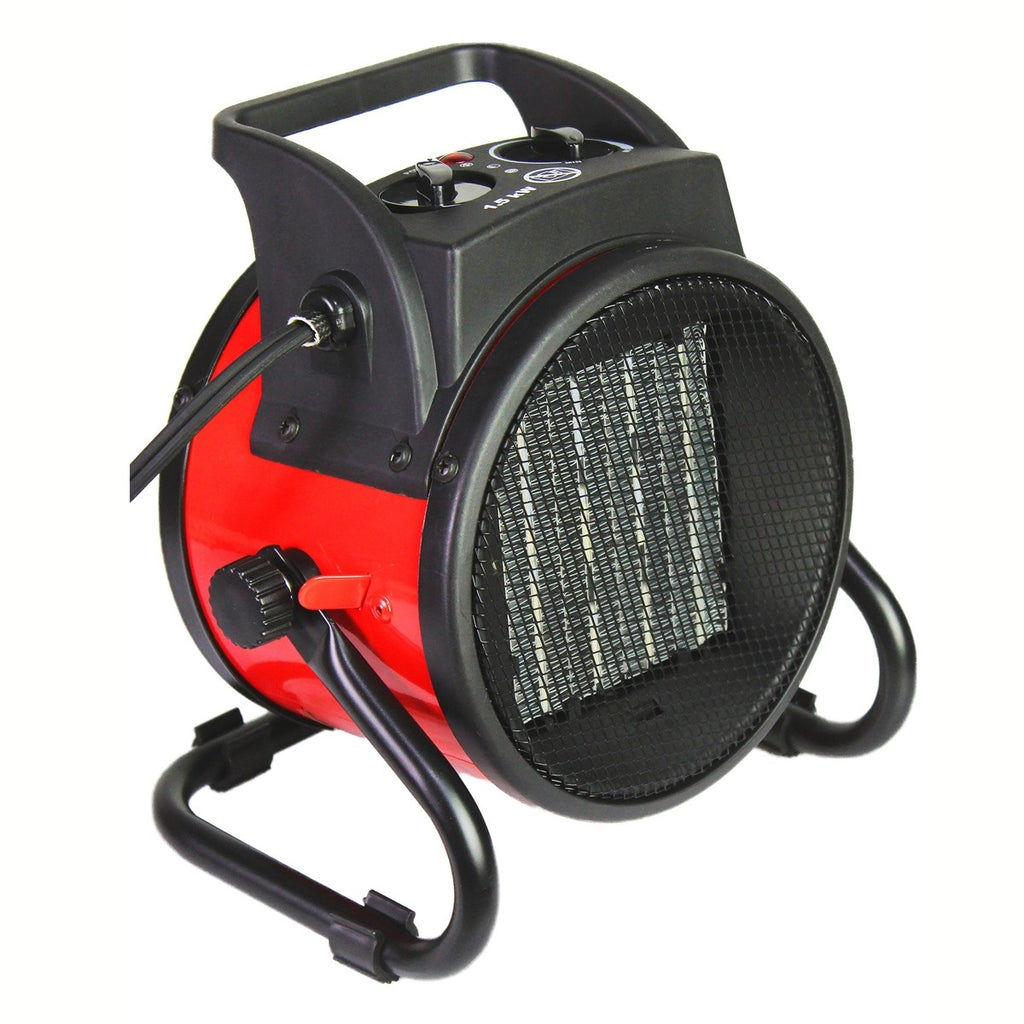 7 In. Electric Indoor Portable Fan-Forced Ceramic Heater