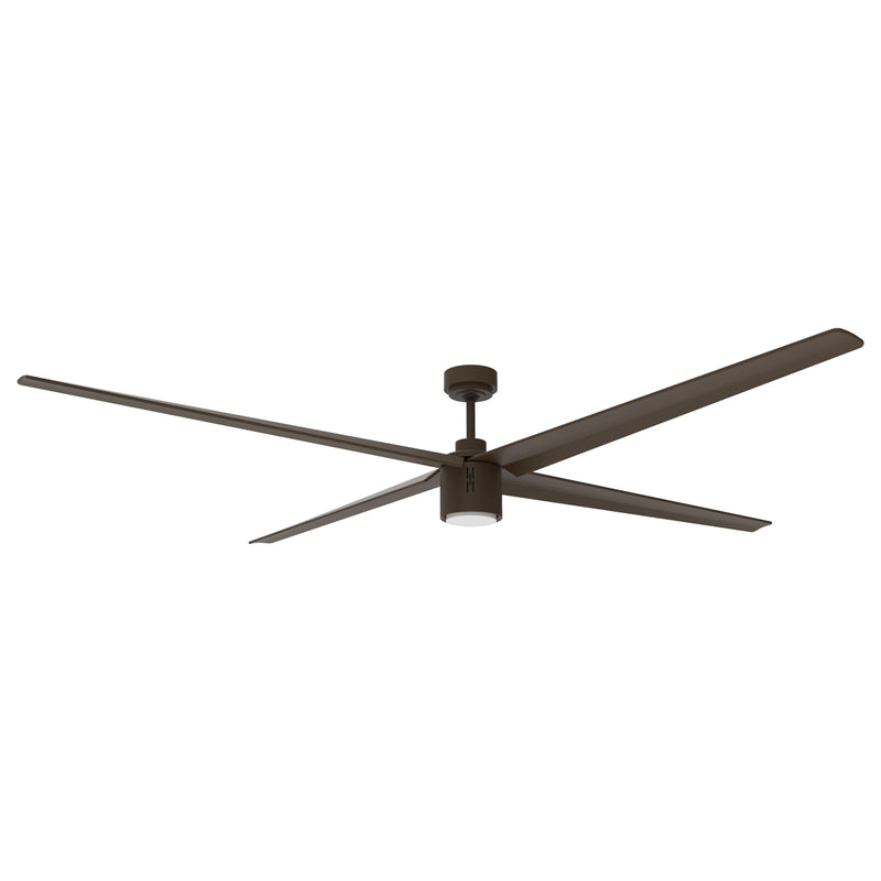 84 In. Indoor 6-Speed Ceiling Fan in Oil-Rubbed Bronze with Integrated LED Light