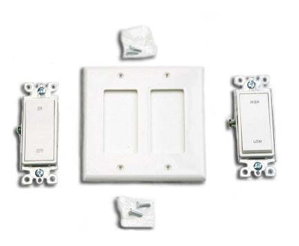 On/Off and Hi/Low Wall Switch Kit for Whole House Fans