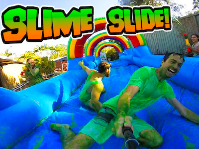 Slime Slide - Giant slip n slide with pool of slime