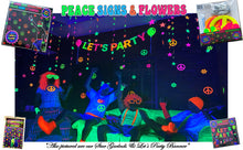 Load image into Gallery viewer, Peace & Flower, 60s Party Decorations, Hippie theme