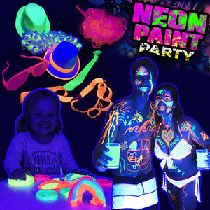 Black light reactive clothing pens paints neon decorations Party Goat