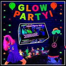 Load image into Gallery viewer, Glow Party blacklight decorations glowave kit