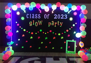 Glow in the dark party board balloons black lights