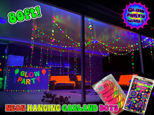 Load image into Gallery viewer, Neon Dot Garland 80ft. UV reactive! Glow Party Decorations