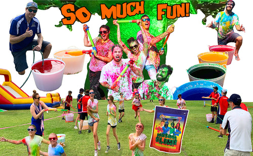 Fun Run Slime blaster stations for an epic color run