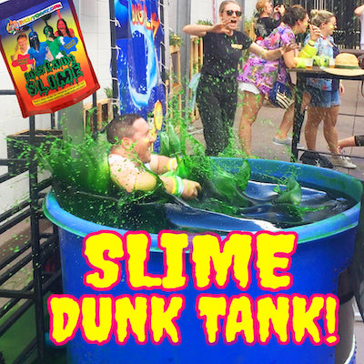 Fill a dunking tank with slime