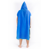 Microfibre Surfer Changing Hoodie - Royal Blue / Yellow