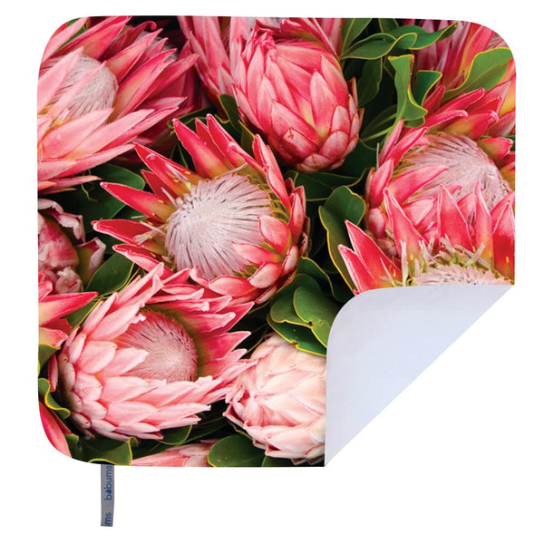 Towel 4 Two - Microfibre Printed Beach Blanket - King Pink Protea