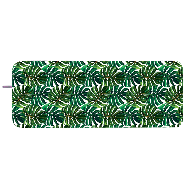 Microfibre Yoga Towel - Big green Leaves