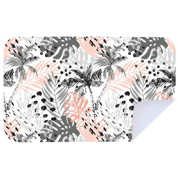 Microfibre XL Printed Towel - Pink delicious palm tree