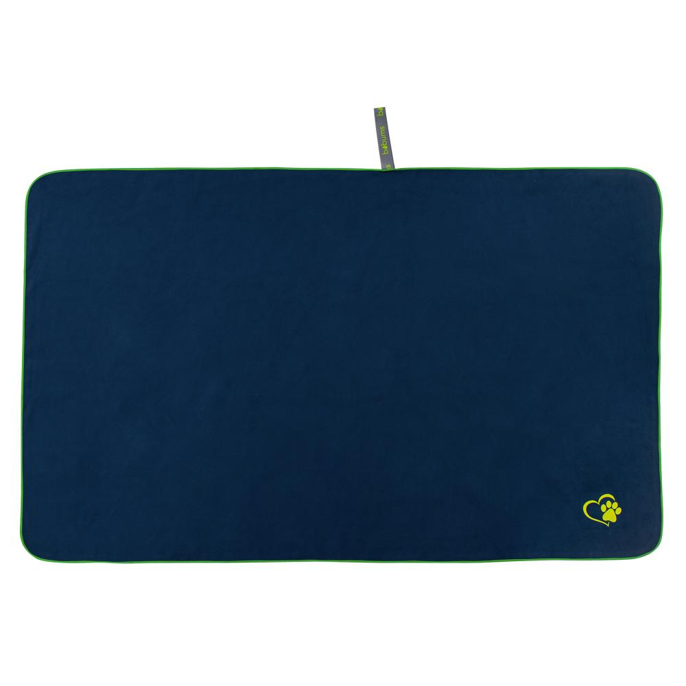 Microfibre Large Pet towel - Navy / green