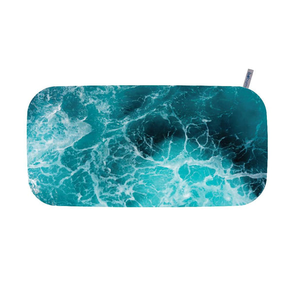 Microfibre Printed Gym Towel - Dark Sea