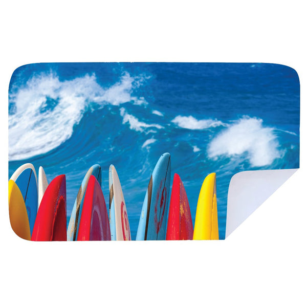 Microfibre XL Printed Towel - Surf Boards