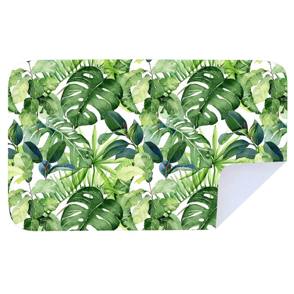 Microfibre XL Printed Towel - Green leaf beauty