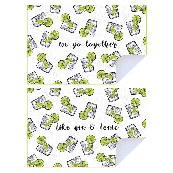 We Go Together Like Gin & Tonic Tea Towel Pack