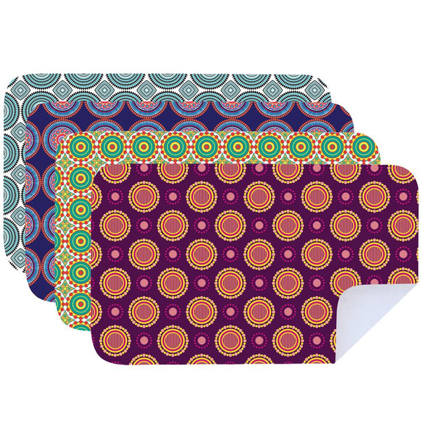 Microfibre Printed Shwe Shwe Vibrant Tea Towels - Pack Of 4