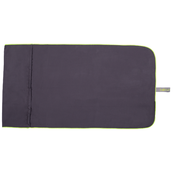 Microfibre Gym Towel - Gunmetal / Yellow