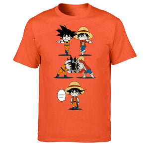 Luffy X Goku Fusion T-Shirt - Kisame Global