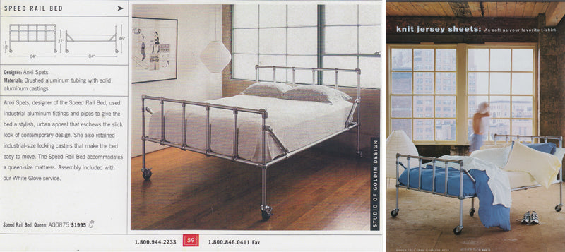 Speed Rail bed in DWR and Garnet Hill catalogs