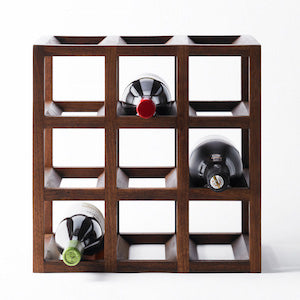 Wine rack Walnut