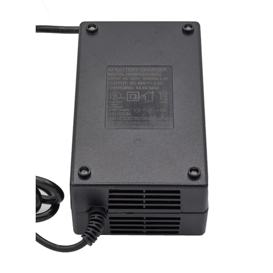 Li-Ion BATTERY CHARGER - 48V 2.0A - 100-240 V/AC 50-60Hz