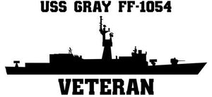 USS Gray FF-1054 Veteran Vinyl Sticker
