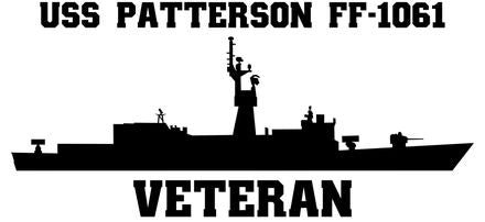 USS Patterson FF-1061 Veteran Vinyl Sticker