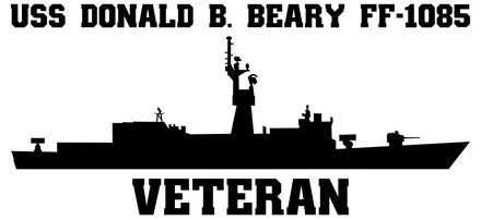 USS Donald B. Beary FF-1085 Veteran Vinyl Sticker