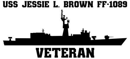 USS Jesse L. Brown FF-1089 Veteran Vinyl Sticker