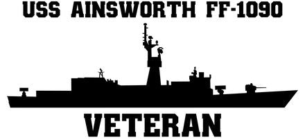 USS Ainsworth FF-1090 Veteran Vinyl Sticker