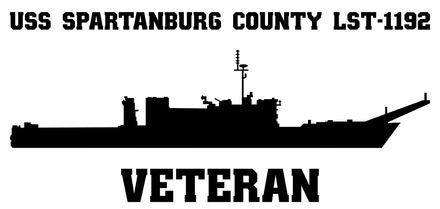USS Spartanburg County LST-1192 Veteran Vinyl Sticker