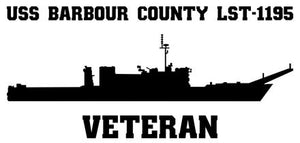 USS Barbour County LST-1195 Veteran Vinyl Sticker