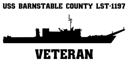 USS Barnstable County LST-1197 Veteran Vinyl Sticker