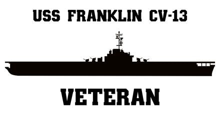 USS Franklin CV-13 Veteran Vinyl Sticker
