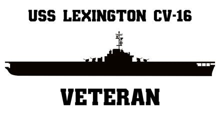 USS Lexington CV, CVA, CVS, CVT, AVT -16 Veteran Vinyl Sticker