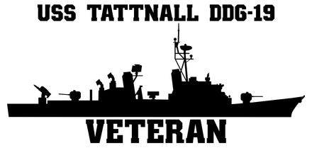 USS Tattnall DDG-19 Veteran Vinyl Sticker
